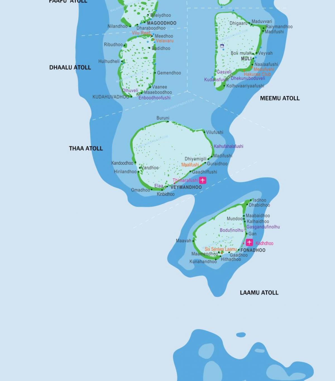 Kandooma Maldives Map Map Of Kandooma Maldives Southern