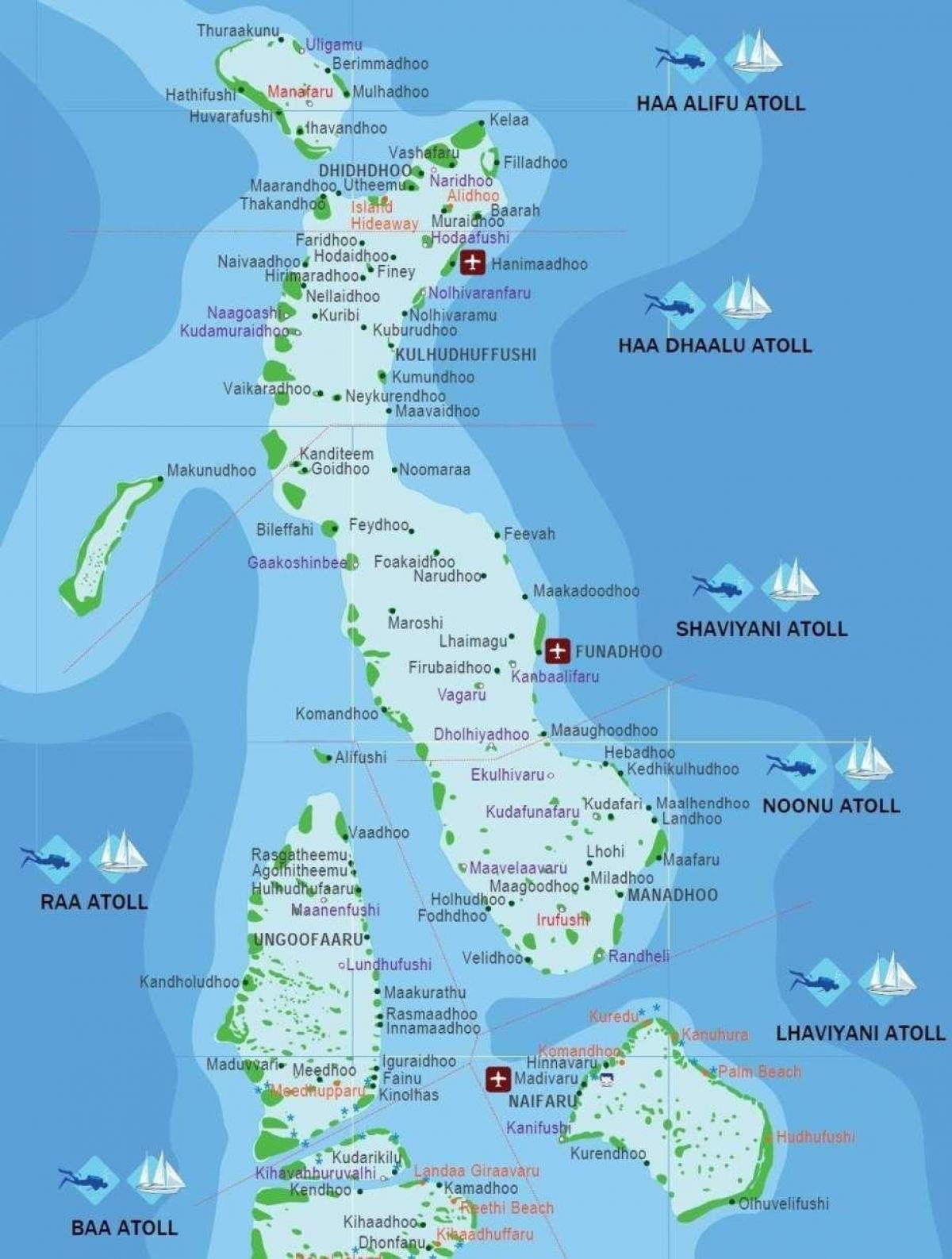 iles maldives map