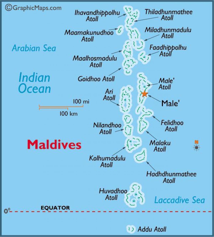 Baa Atoll Maldives Map