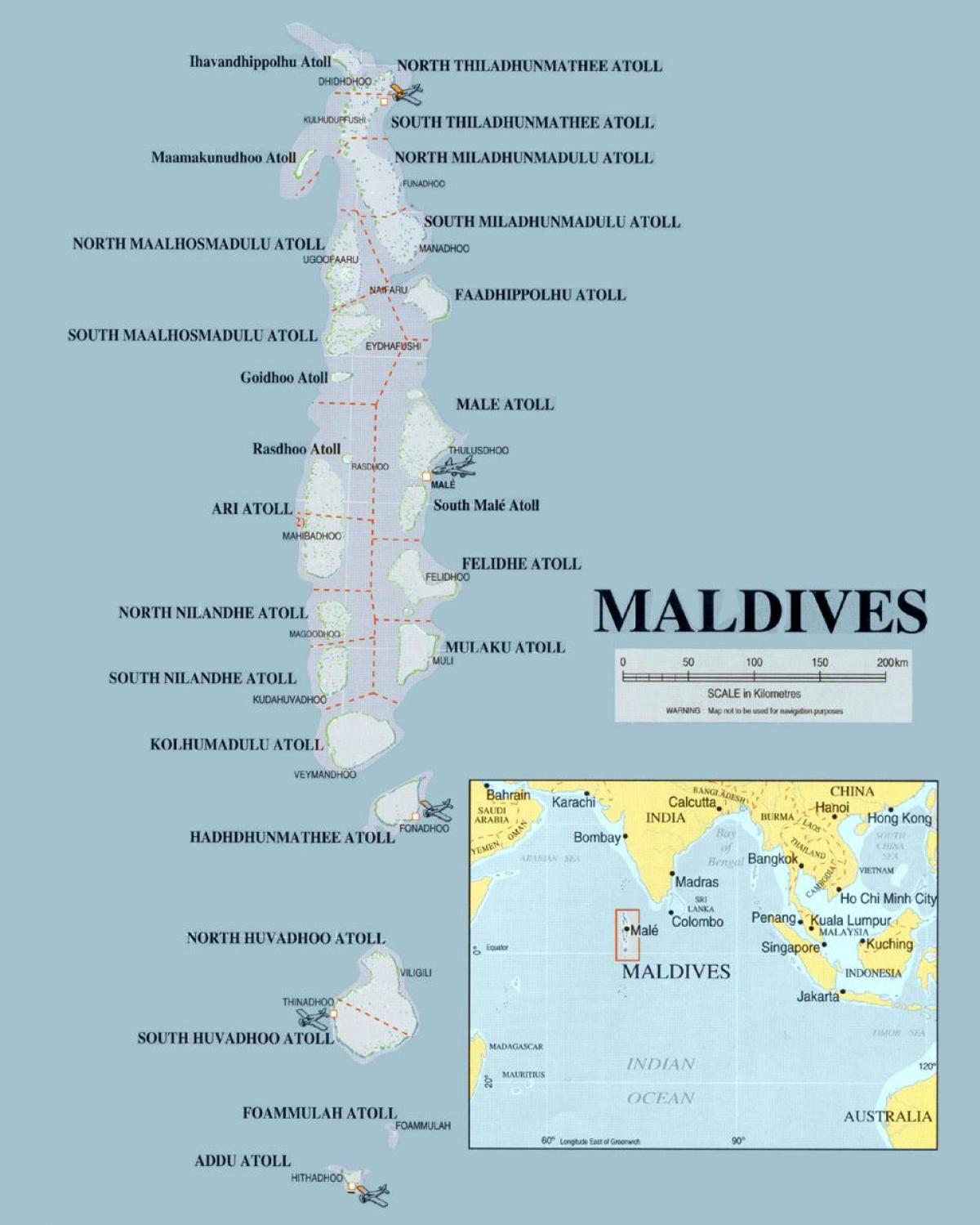 map of maldives physical