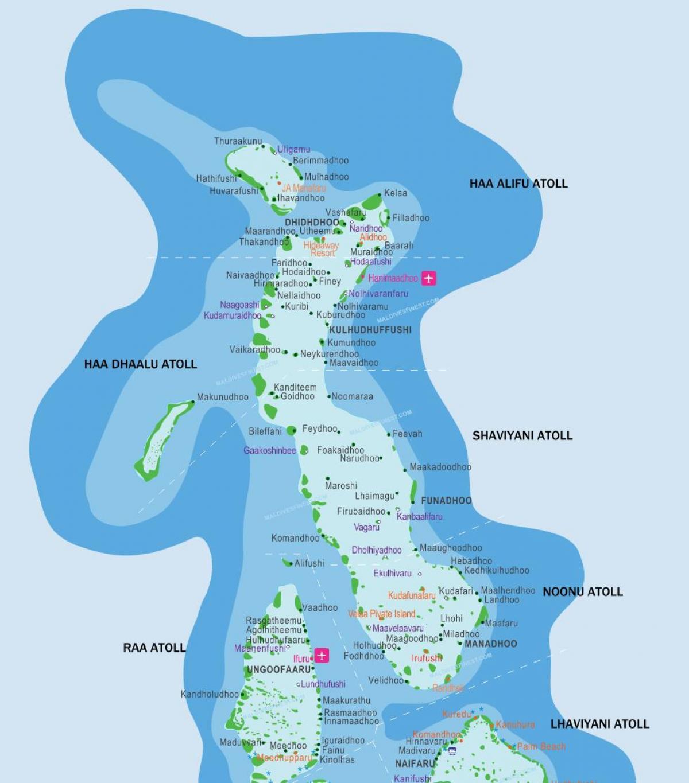 Maldives On Map Of Asia.Maldives Resorts Map Maldives Resorts Location Map Southern Asia