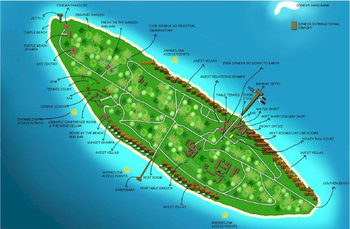 Vaadhoo Island Map Vaadhoo maldives map   Vaadhoo island maldives map (Southern Asia