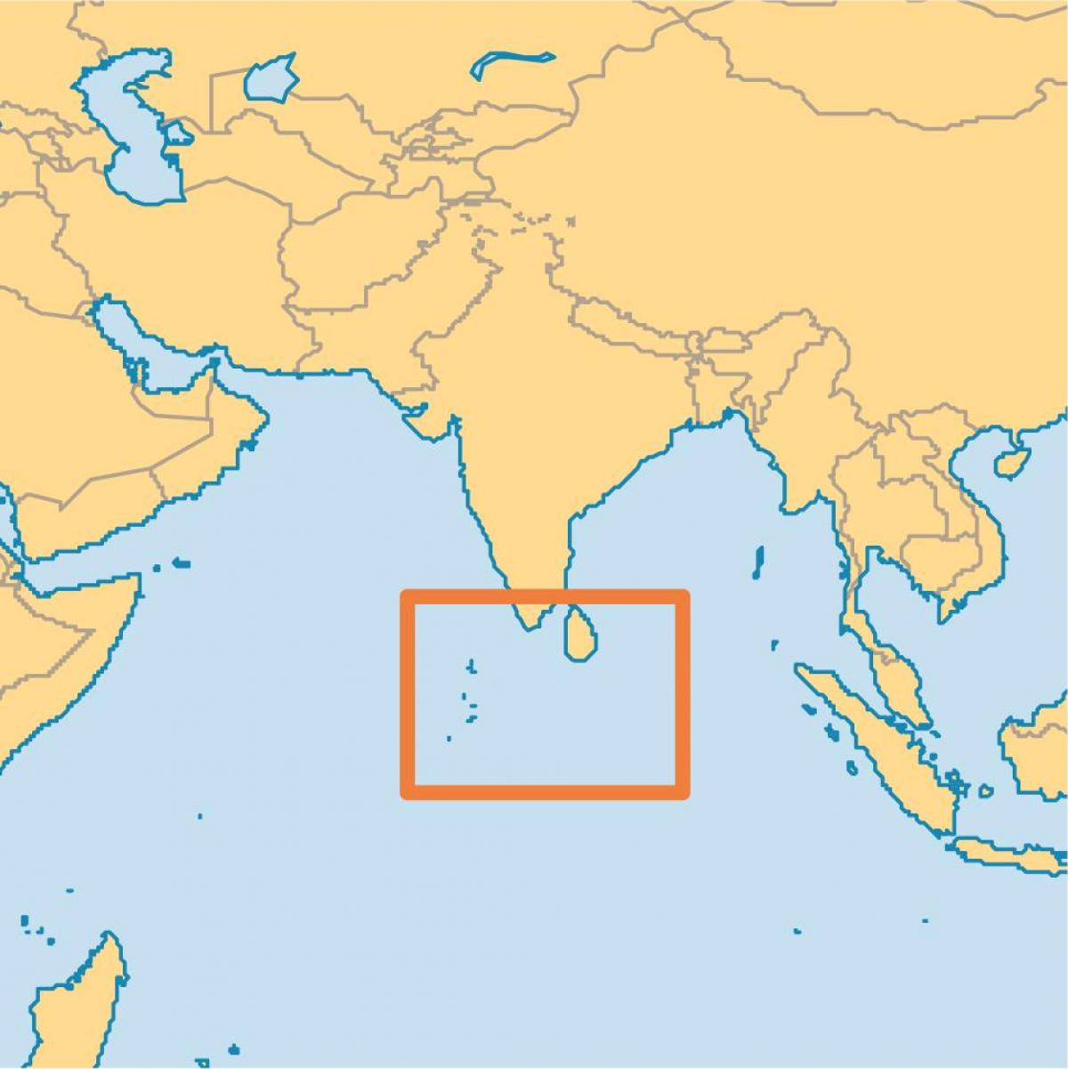 maldives island location on world map