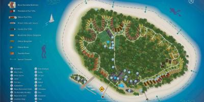 Kurumba maldives resort map