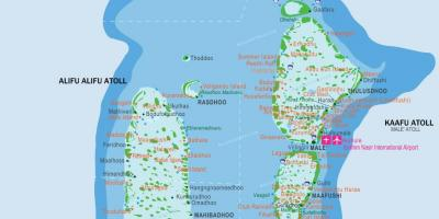Maldives airports map