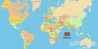 Map of maldives in world map