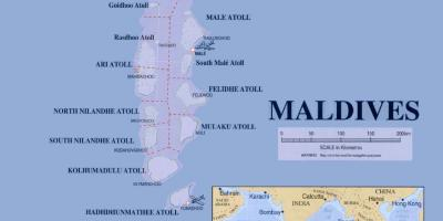 Map of maldives political