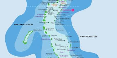 Maldives resorts location map