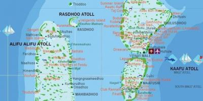 Map of maldives tourist